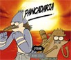 Slapstick Mordecai and Rigby