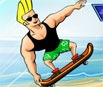 Johnny Bravo Beach Skating
