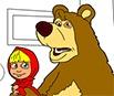 Masha e o Urso: Colorir